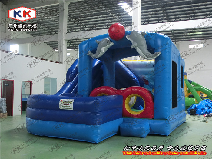 inflatable cheap Fashion inflatable font b bouncer b font slide digital playground combo