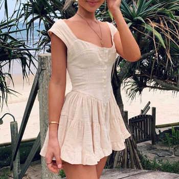 Sollinarry Casual Strap Mini Dress Women 2019 Summer Sleeveless Party Women Dresses Retro Beach Short Dress Feminine Vestidos - DISCOUNT ITEM  40% OFF All Category