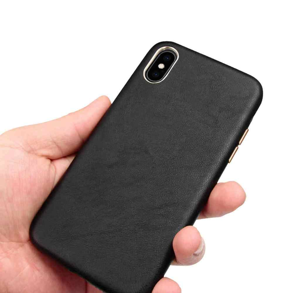 イミド高級レザー電話ケース iphone XSMAX XR XS × 8 7 プラス超薄型シープスキン裏表紙 iphone 7 プラス Coque Fundas