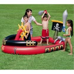 متعددة وظيفة كبيرة في الهواء الطلق نفخ السباحة بركة ماء الأسرة الأطفال ملعب السفينة نمط piscinas zwembad