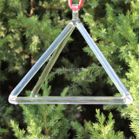 5 Inches Crystal Singing Pyramid For Healing Energy With String And Mallet