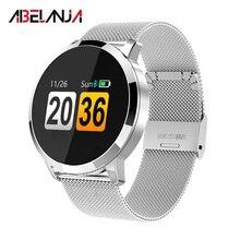 Купить с кэшбэком Fitness Tracker, Q8 Colorful Screen Bluetooth Fashion Smart Watch Activity Tracker with Steps Counting Motion Sleep Heart Rate M