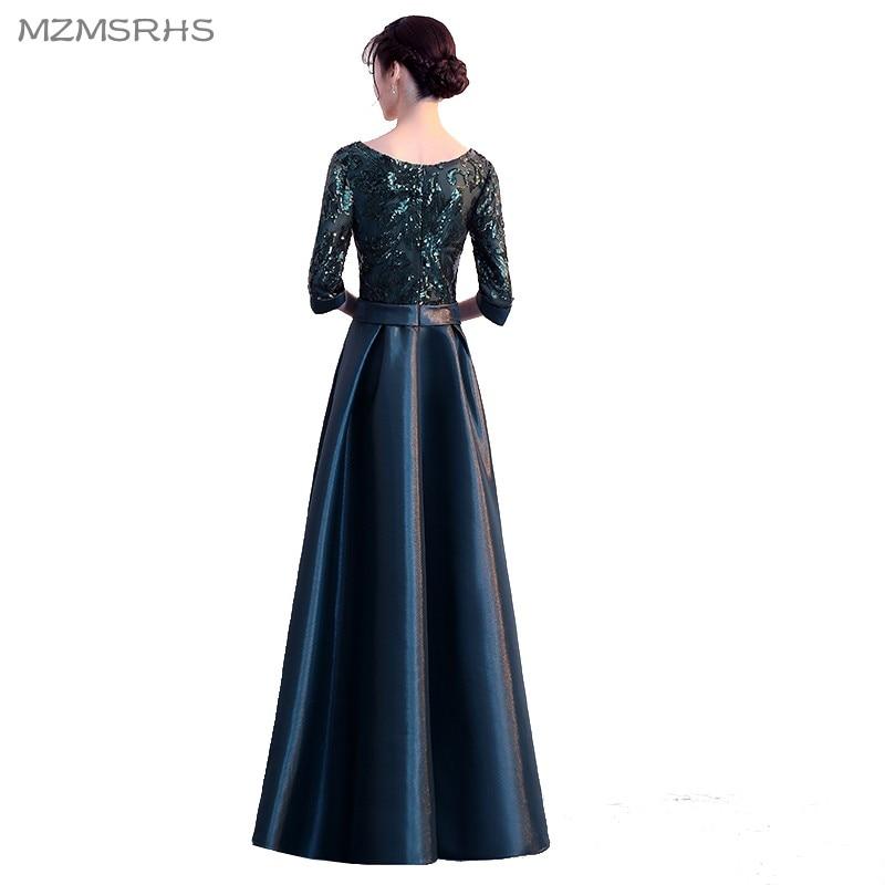Plus size donkergroen 2018 moeder van de bruid jurken a-lijn - Bruiloft feestjurken - Foto 2