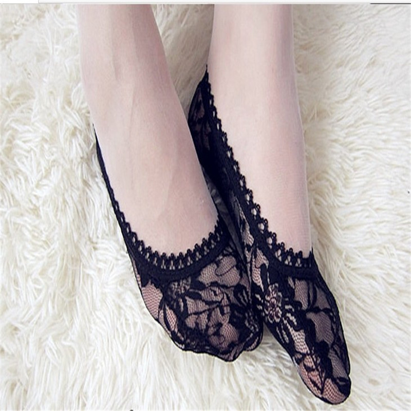New Women Socks  Cheap Cotton Short Lace Sock For Female Cute Invisible Sock Sexy Young Girls Tube Socks
