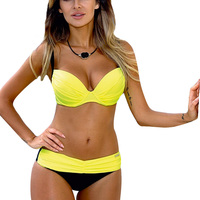 Bikini 2017 Women Swimsuit Fitness Biquini Brazilian Bikini Set Push Up Swimwear Women Sexy Bandeau Beach
