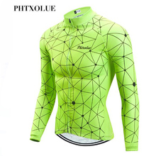 цена на Phtxolue Winter Thermal Fleece Cycling Clothing Keep Warm Maillot Ropa Ciclismo Invierno Bicycle Clothing Wear MTB Bike Jerseys