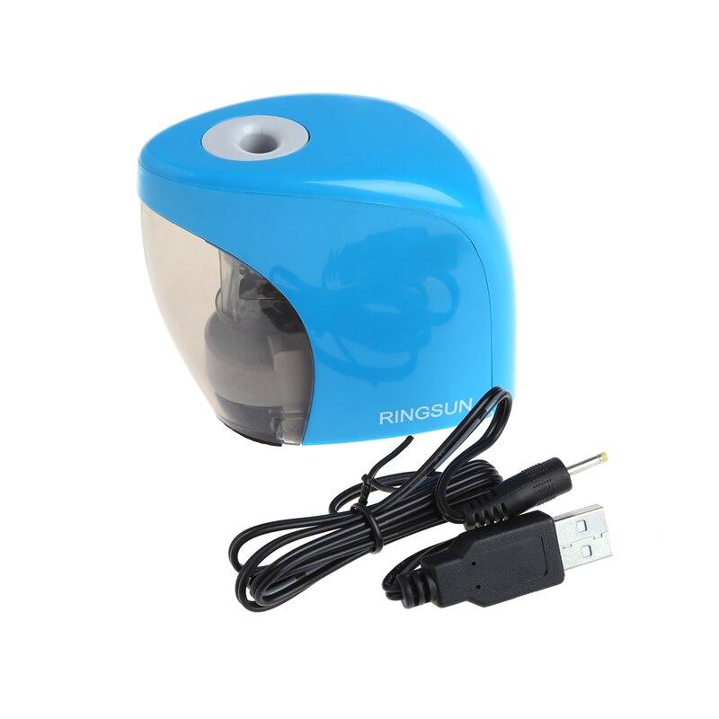 1 x Bleistiftspitzer 1 x Usb-kabel Elektrische Auto Anspitzer Batterie/USB Powered für Graphit Buntstifte ABS Kunststoff