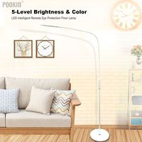 LED Intelligent Eye Protection Standing Floor Lamp Remote Control Touch LED Lamp For Bedroom Led Light 5 Level Brightness&Color