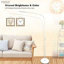 LED Intelligente Auge Schutz Standing Boden Lampe Fernbedienung Touch LED Lampe Für Schlafzimmer Led Licht 5 Ebene Helligkeit & farbe