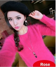 Free shipping genuine mink cashmere sweater women long mink fur cashmere Pullovers pure cashmere sweater  M11