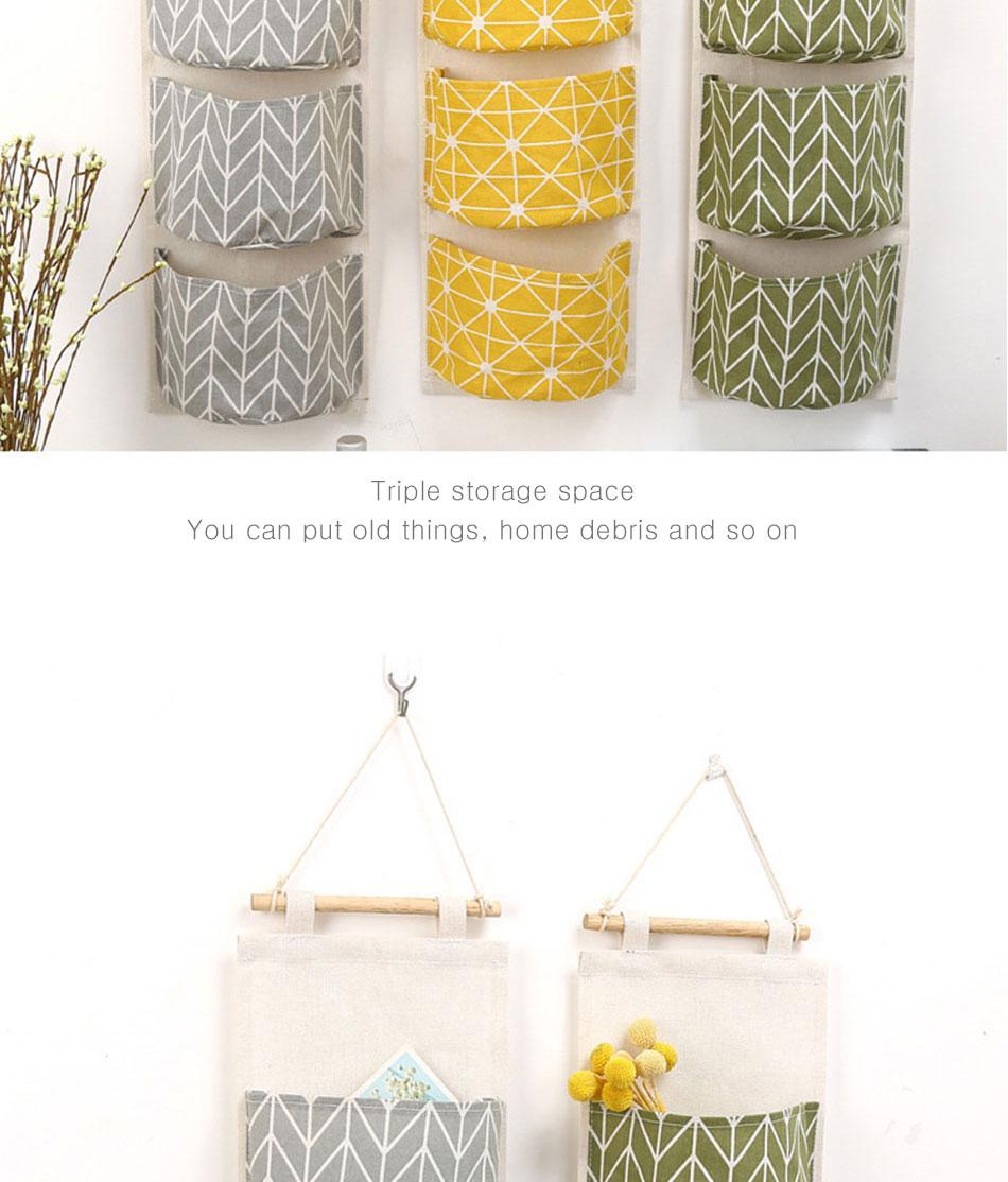 Cute Wall Sundry Cotton Line Hanging Organizer Bag Multi-layer Holder Makeup Rack Jewelry Storage Box Basket Home Decoration (3)