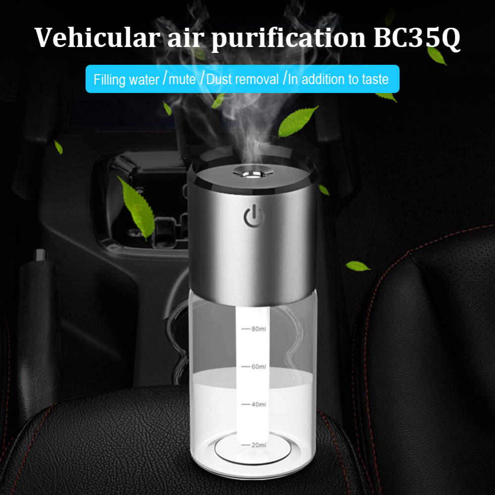 Mini Car Charge Humidifier Vehicle Air Humidifier Essential Oil Aroma Diffuser QC3.0 USB Charging Car Air Freshener Purifier mini car charge humidifier vehicle air humidifier essential oil aroma diffuser qc3 0 usb charging car air freshener purifier