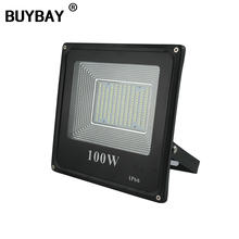 BUYBAY 50w 100w LED Flood light 220V 240V 30w 200w Outdoor Lighting Projector Reflector lamp led 50w exterior spot led exterieur(China)