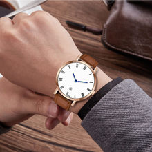 Rose Gold Case Quartz Watch Casual New Fashion Men's watch Wrist Party decoration suit Dress Watch gifts male man boyfriend(China)