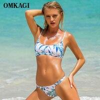 OMKAGI Brand New Brazilian Bikini 2017 Swimwear Women Swimsuit Sexy Push Up Bikinis Set Swimming Bathing