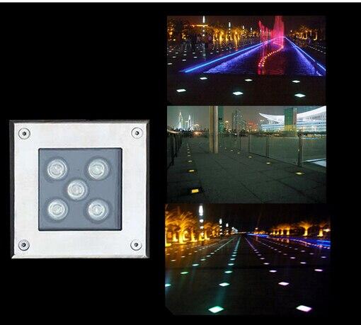 5pcs 3w 4W 5w LED underground light Square LED buried lights IP65 Outdoor landscape garden light waterproof ac85-265v DC12v