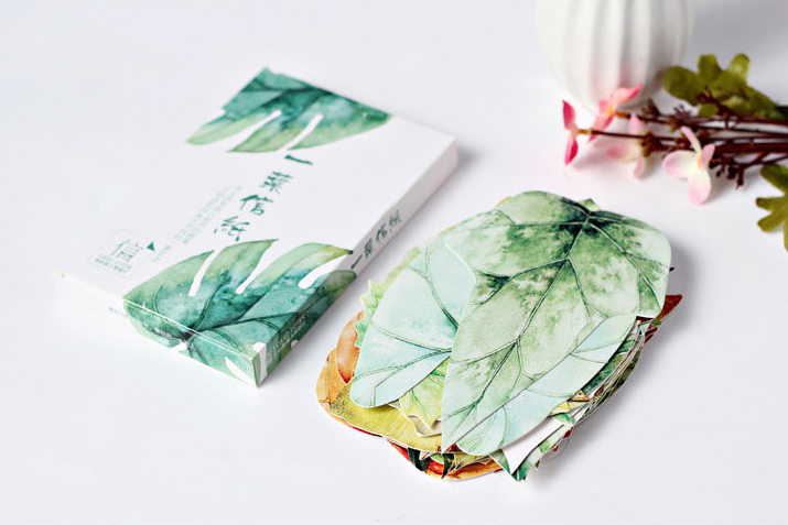 1Pack/set Cute Wide Various Leaves Greeting Card Postcard Birthday Letter Envelope Gift Card Set Message Card 30 Pieces