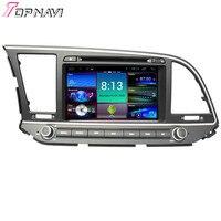 Topnavi 8'' Quad Core Android 4.4 Car DVD Multimedia Player for Hyundai Elantra 2016 DVD Autoradio GPS Navigation Audio Stereo