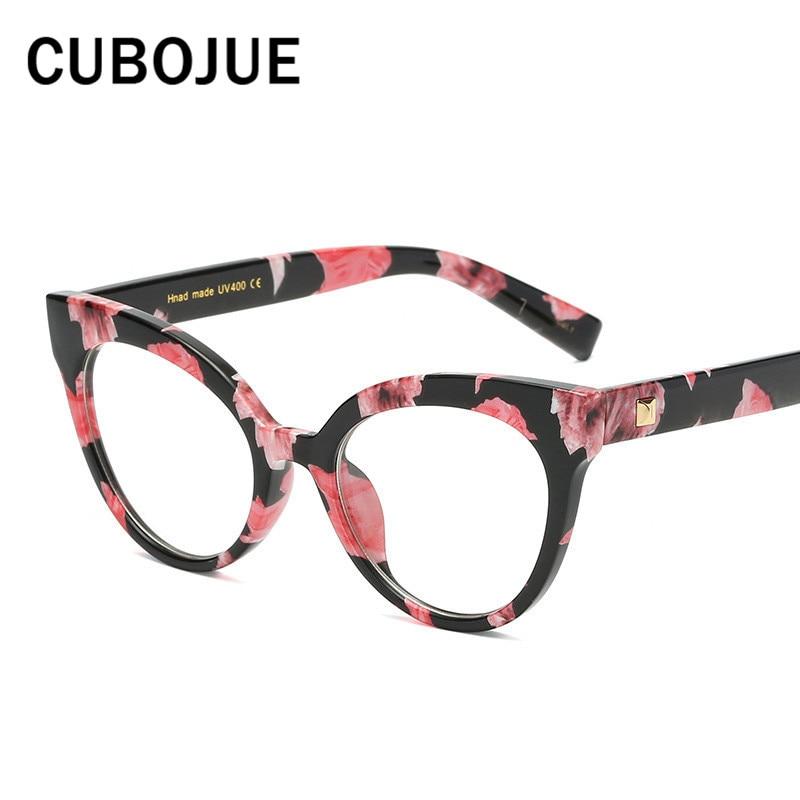 151235a680342 Cubojue Mulher Olho de Gato Do Vintage Óculos Retro Quadro Cateye para  Pontos de Grau do Sexo Feminino Pequenas das Mulheres Da Moda Óculos de  Nerd ...