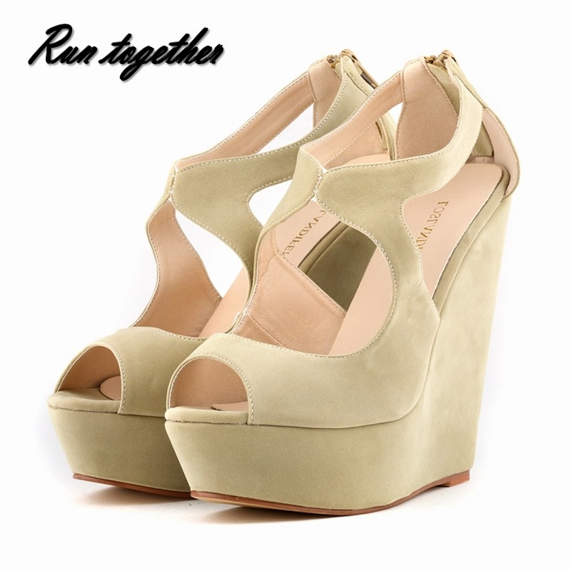 Loslandifen New fashion summer women high heels sandals shoes woman wedge peep toe platforms gladiator pumps size 35-42
