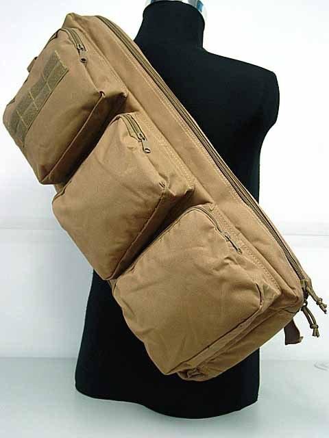 24 Rifle Gear Shoulder Sling Bag Backpack Coyote Brown
