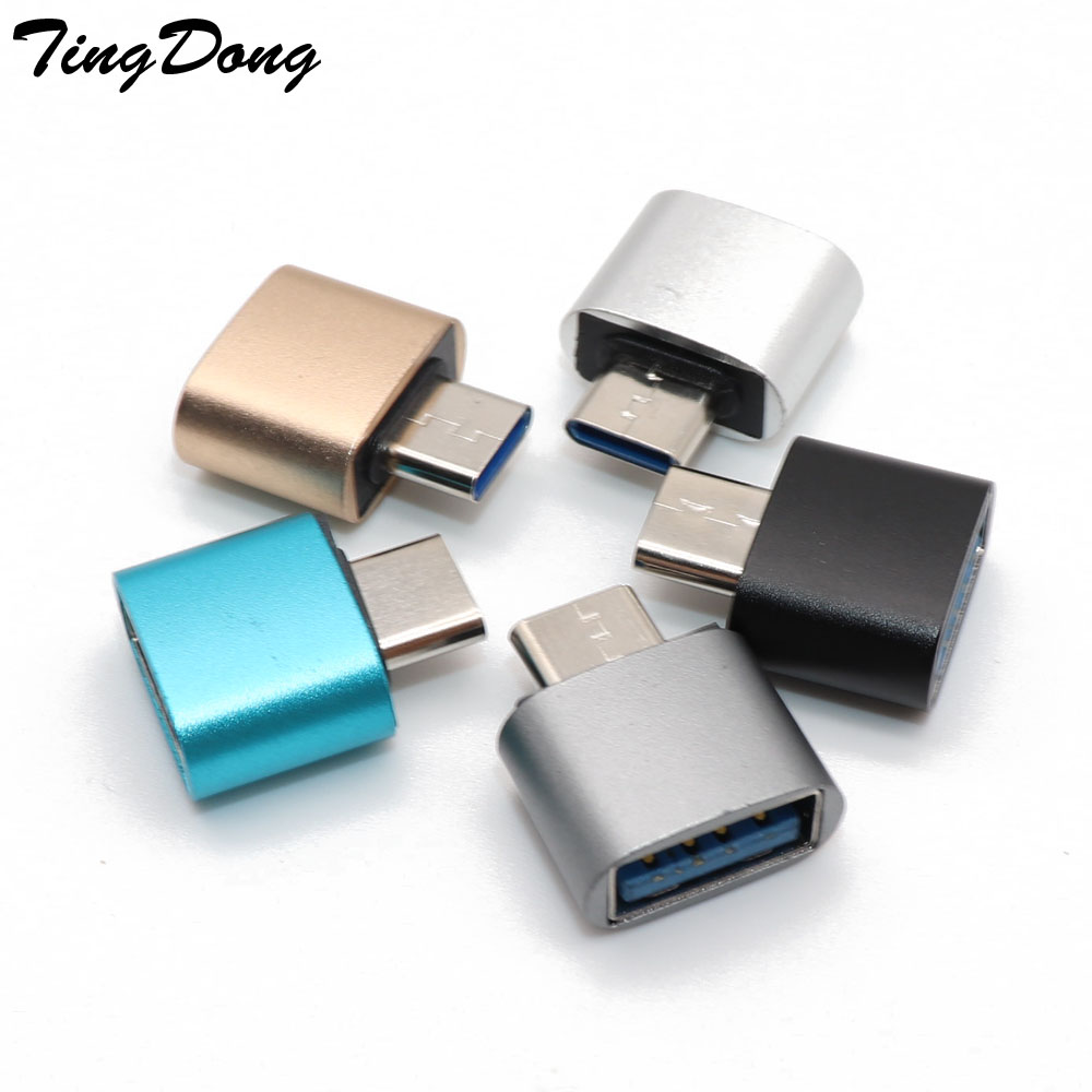 Type C Male To USB Female Adapter Coverter For Samsung Galaxy S9 S8 Plus  Note 8 OTG USB C Adapter For One Plus 5t For Nokia 8