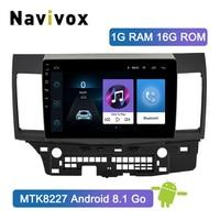 Navivox 2 Din Android 8.1 Car Radio For Mitsubishi Lancer Touch Screen Car Radio Android Radio Lancer 2007 2018 Multimedia GPS