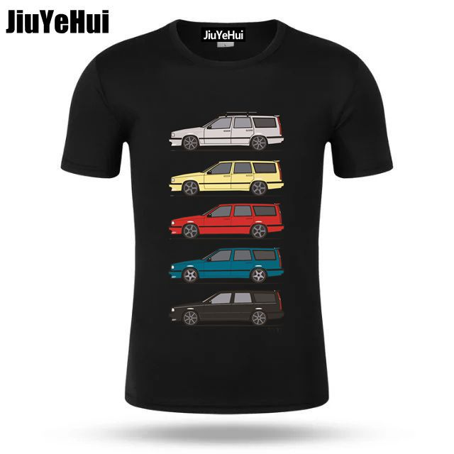 Summer Car Spring Turbo Wagons Mens T Shirt Volvo 850 V70 T5 T Shirt Men Vintage Classic Vestidos Harajuku Shirt Kenka Top Tee