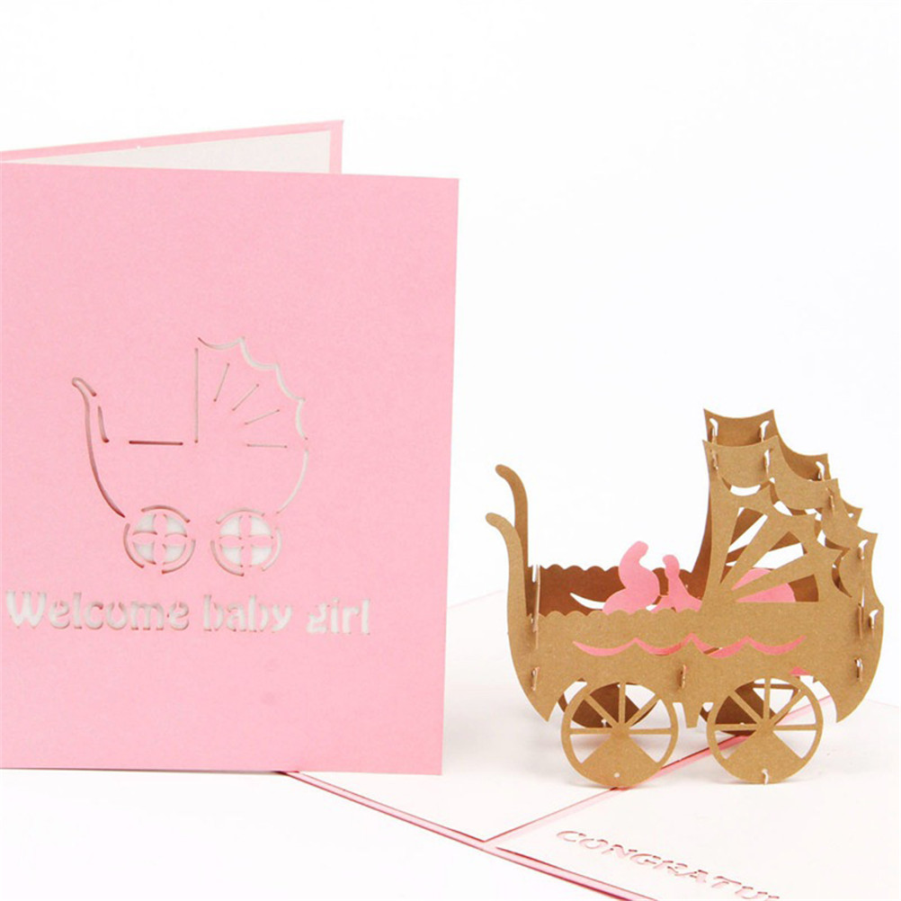 1PC Fashion 3D Pop Up Cards Lover Laser Cut Wedding Invitations Weddingpost Card For Happy Birthday Anniversary Greeting In From