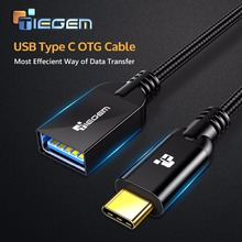 Tiegem USB Type C Male to USB 3.0 Female Adapter USB-C Type-C OTG Cable 5Gbps Data Sync USB Converter for Macbook Samsung S8 Mi