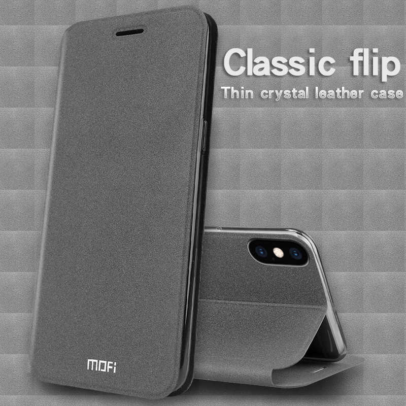 Original Mofi For iPhone XS Case Book Flip PU Leather Cell Phone Cover For iPhone XR for iPhone XS MAX Stand Case