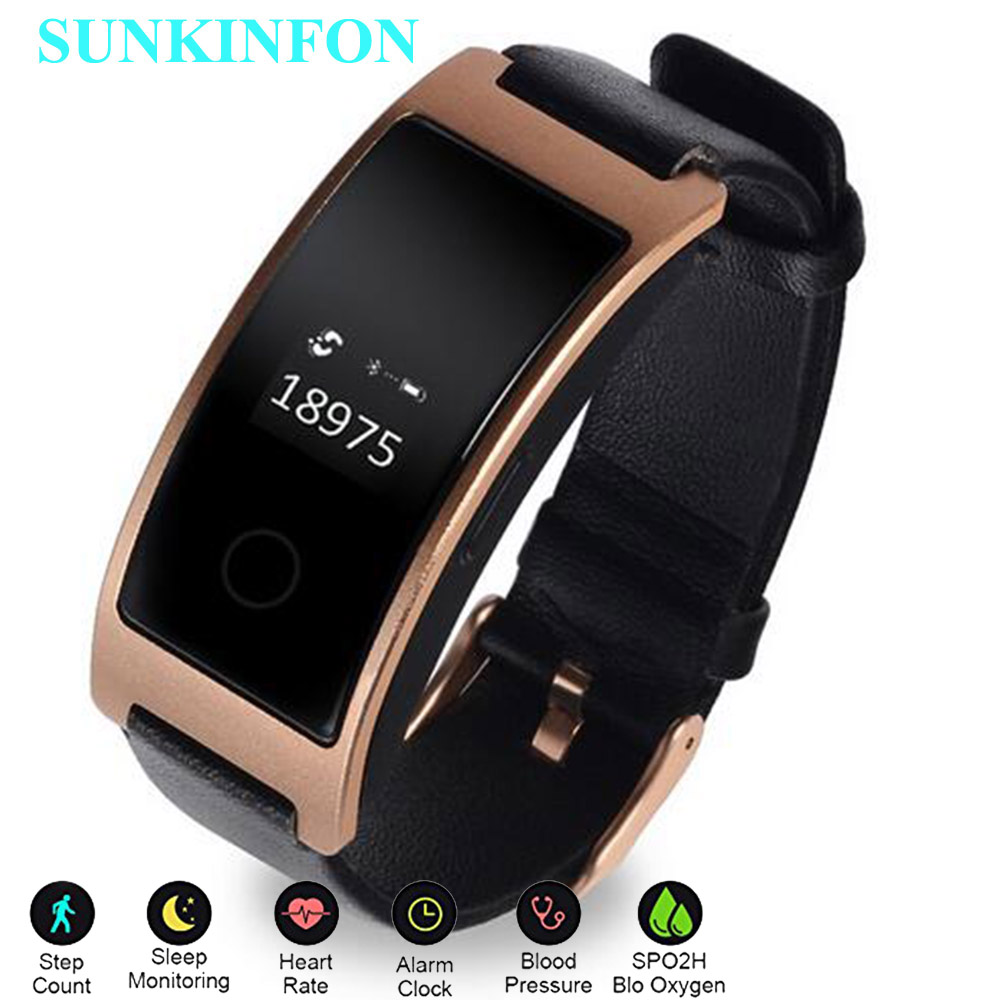 KF1X Smart Wristband Blood Pressure Heart Rate Monitor Pedometer Wrist Watch Fitness Bracelet Tracker for iPhone 6 Plus 6S Plus