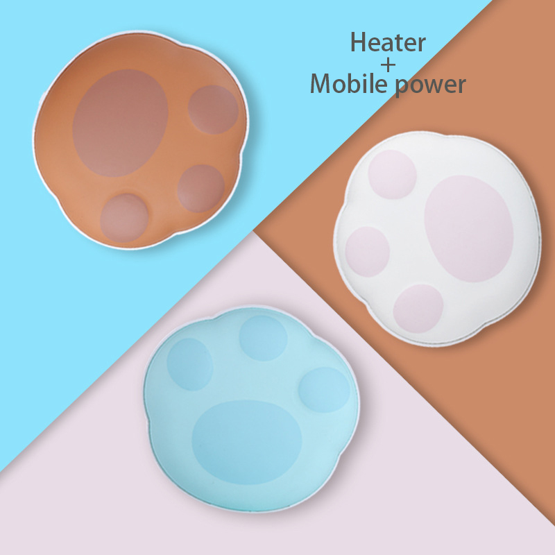 New Bear Heater Hand Warmer Electrothermal Film Usb Mobile Power Charging Treasure Mini Warm Baby Cake 5000 Ma
