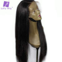 Luffy Preplucked Peruvian 180% Density Silky Straight 13x6 Deep Part Lace Front Wigs Human Hair With Baby Hair Non remy Hair