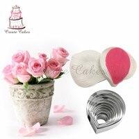 Rose veiner mold dekorowanie zestaw dla wedding cake decoration flower petal stainess steel nóż ustawić kremówki sugarcraft narzędzia
