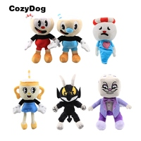 Wholesale 6 Piece/Set Game Cuphead Plush Toy Mugman the Devil Legendary Chalice King Dice Stuffed Animals Toys for Children