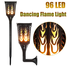 hot deal buy solar led flame lamps waterproof romantic flicker effect torch lights indoor led dancing light bulbs outdoor lawn garden decor