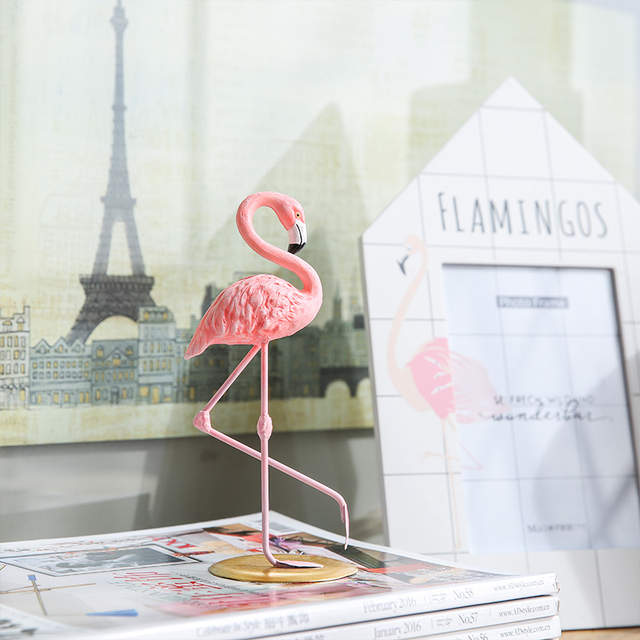 Placeholder Miz Home 1 Piece Resin Pink Flamingo Decor Figure For Ins Hot