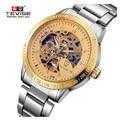 Famous Brand Mechanical Men Watches Brand TEVISE Luxury Hollow Waterproof Watch Big Dial Clock Male Wristwatch Relogio Masculino