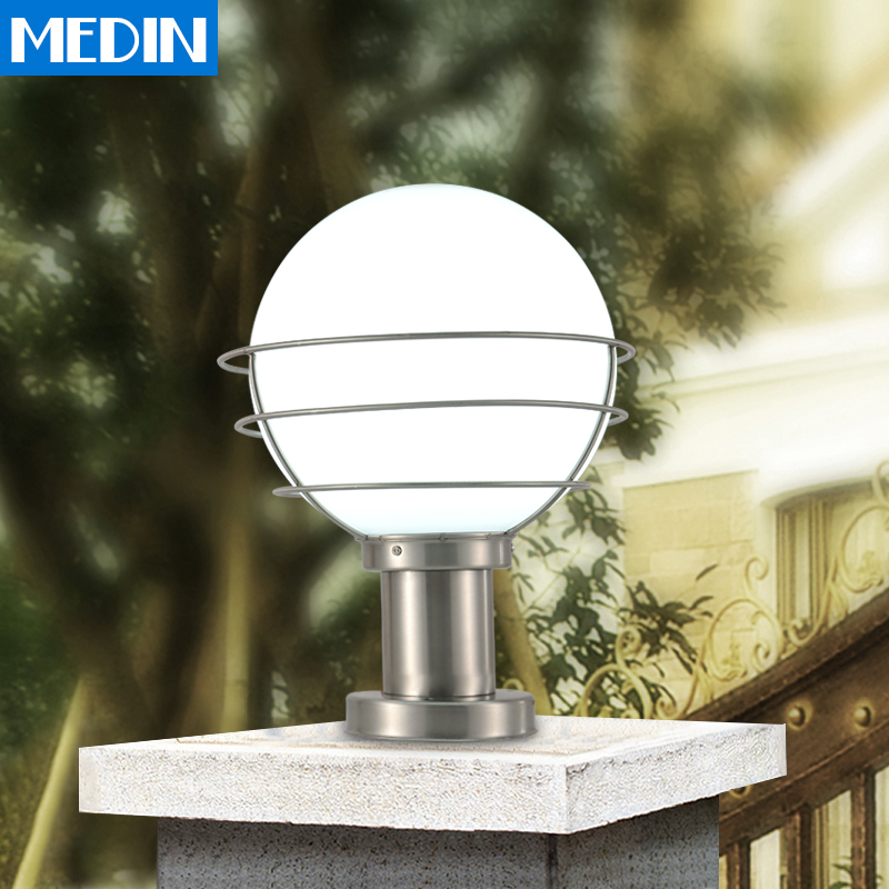 Spherical Stainless Steel Column Headlights Waterproof Outdoor Lighting  Outdoor Patio Door Pillars Walled Garden Wall Lights In Landscape Lighting  From ...