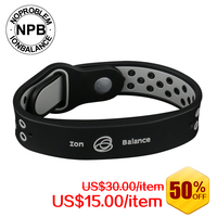 P094 Noproblem Tourmaline Fashion Bangles Ion Balance Sport Power Therapy Health Band Bracelets