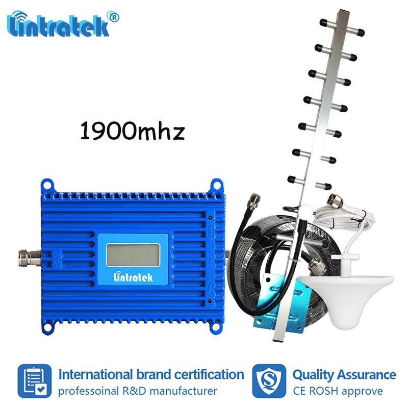 Lintratek 70dB Gain 2G 3G Internet 1900 MHz amplificateur de Signal Mobile PCS GSM 1900 antenne amplificateur répéteur cellulaire UMTS S6 + 2