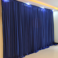 10x20ft Ice Silk Elegant Wedding Backdrop Party Event Curtain Drape Wedding Supplies Curtain For Background Wall