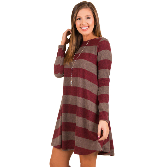 dc3a9176b927c ... Winter Long Sleeve Striped Dresses Autumn Maternity Knitted Pregnant  Clothes Dresses For Pregnancy Woman ...