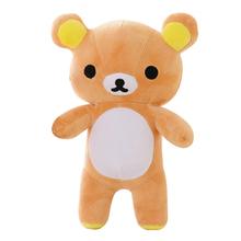 20CM Super Śliczne miękkie pluszowe Lazy Bear Rilakkuma Bear Doll urodziny i świąteczny prezent dla dzieci amp dziewczyn tanie tanio Animals Stuffed Plush BABIQU Unisex Niedźwiedź 3 lat TV Movie Character Plush Nano Doll Bawełna Bawełna PP Soft Interactive Educational Model DIY