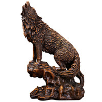 1PCS Wolf ornaments simulation animals new Chinese style study office desk decoration crafts sent to business gifts Lu611124
