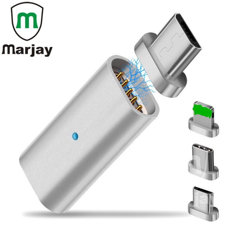 Marjay Micro USB Connector Magnet Adapter OTG Type-C USB to Type-C / For iPhone Apple / Micro USB Charger Cable Magnetic Adapter