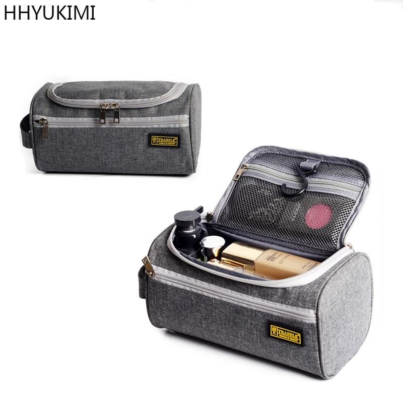 Hhyukimi New Mens Wash Bag Portable Women Travel Cosmetic Organizer Storage Bag High Quality Toiletries Makeup Bags for Laundry