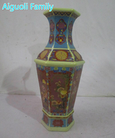Rare Chinese Qing Dynasty Yongzheng year ceramic vases,With a mark on the bottom,Antique ceramic vase,painting flower