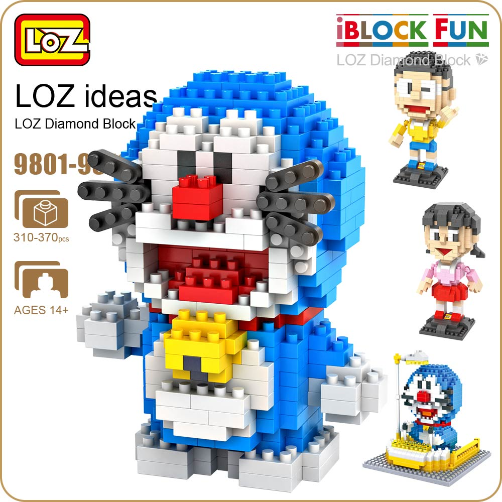 LOZ Diamond Blocks Nano Bricks Japanese Anime Action Figures Building Blocks Educational Diy Assembly Toy for Children 9801-9810 loz architecture space shuttle mini diamond nano building blocks toys loz space shuttle diy bricks action figure children toys